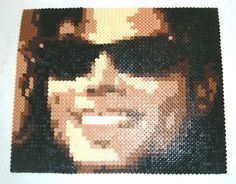 Michael Jackson Perler Bead Portrait by MostFavoriteAunt