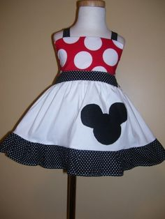 Customo Boutique Minnie Mouse Jumper Dress 12 Months. If I get this for the baby, does this mean I get to go to Disney World?