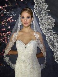 Symphony Bridal Veil - Style 6318VL - Lace Edge Veil