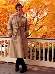 Reversible Wool Lined Tan Tweed Rain Coat  Womens by ForsythiaHill