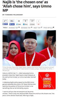 Hujung minggu lalu berakhir sudah Persidangan Agung Umno yang dirasmikan oleh Perdana Menteri Pilihan Allah, Dato Sri Najib Razak. Ianya juga digulung oleh beliau tanpa memberi peluang kepada mana ...