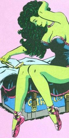She-Hulk (Jennifer Walters) Marvel Women, Marvel Girls, Comics Girls, Marvel Comics Art, Hulk Marvel, Ms Marvel, Captain Marvel, Comics Illustration, Illustrations
