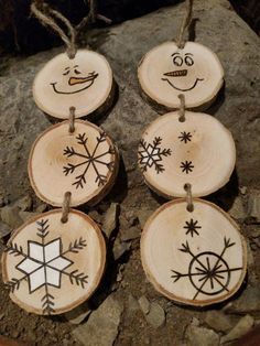 Wood Burned Snowman Christmas Ornaments -- Stacked Snowman Ornaments/Gift Tags,* More What is wood burning ? The tree burned by treatment technique by moving an image on wood is called wooden decoration. In wood burning , determi. Snowman Christmas Ornaments, Wood Ornaments, Christmas Gift Tags, Christmas Decorations, Homemade Ornaments, Ornaments Ideas, Tree Decorations, Picture Ornaments, Christmas Garlands