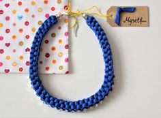 Knotted necklace Fabric necklace Textile Necklace by KnotMyself