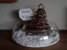My little christmastree in snowlandscape. Very easy to make.