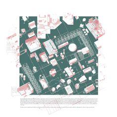 Las Meninas - Architectural Design Archive by DPA Las Meninas - Archit. Architecture Mapping, Architecture Concept Diagram, Architecture Collage, Architecture Graphics, Architecture Visualization, Architecture Drawings, Architecture Portfolio, Architecture Design, Pavilion Architecture