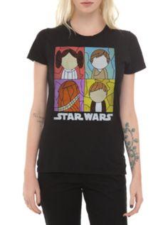61666e1d Star Wars Glass Rebels Girls T-Shirt Nerd Fashion, Fashion 2014, Star Wars