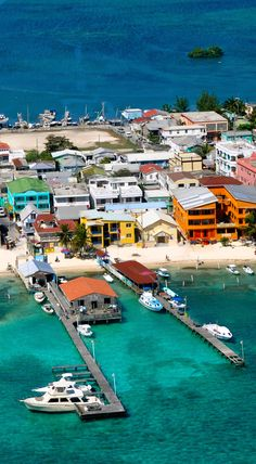 The colorful town of San Pedro.