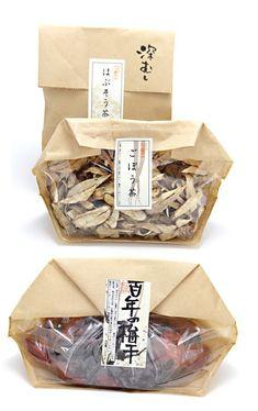 """""""おそら""""の梅干し、薬草茶 Japanese herbal tea packaging"""