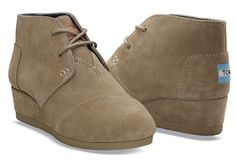 For the minute they are old enough - TOMS Youth Wedges.