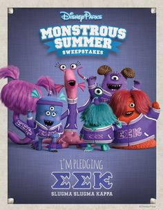 Three screams for Monsters U! Become an honorary Monsters University student and join an MU fraternity or sorority in the Monstrous Summer Celebration. You could win a Disney Parks vacation! See Official Rules. Ends 8/31/13.
