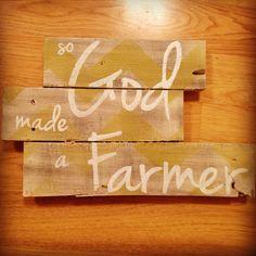 So God Made a Farmer sign on Etsy