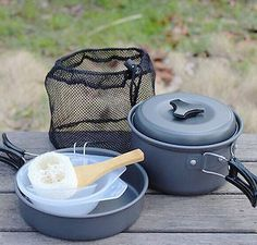 8pcs outdoor camping hiking #cookware #backpacking #cooking bowl pot pan set ht,  View more on the LINK: 	http://www.zeppy.io/product/gb/2/391327980781/