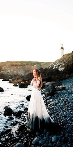 15 Colored Wedding Dresses To Make You A Stylish Bride ❤ lace ombre separates . 15 Colored Wedding Dresses To Make You A Stylish Bride ❤ lace ombre separates long sleeved wedding dresses sweet caroline Full gallery: weddingdressesgui. Ombre Wedding Dress, Colored Wedding Dresses, Biker Wedding Dress, Weird Wedding Dress, Halloween Wedding Dresses, Halloween Weddings, Long Sleeve Wedding, Wedding Dress Sleeves, Alternative Wedding Dresses