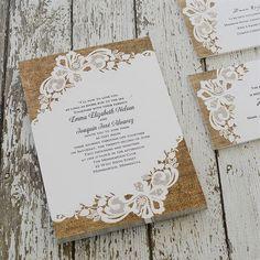 Lacy Dream Invitation | Invitations By Dawn Create Wedding Invitations, Country Wedding Invitations, Wedding Themes, Wedding Ideas, Burlap Backdrop, Rustic Wedding Inspiration, Lace Weddings, Lace Design, Backdrops