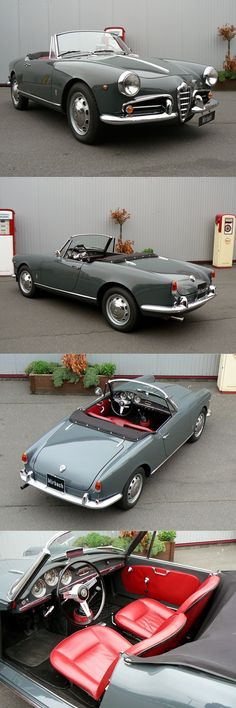 What else does one want? 1955 Alfa Romeo Giulietta Spider / Pininfarina / Italy / grey / 17-379 http://amzn.to/2rRdYLu #richfashion #unique #style #cars #classiccars #love
