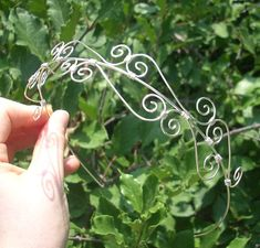 Silver wire Head band/Tiara/Crown