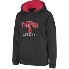Stanford Cardinal Arch & Logo Mascot Pullover Hoodie - Charcoal