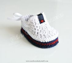 Crochet Baby Booties Knitted booties, baby moccasins (white) ...