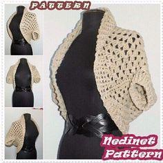 Crochet shrug cardigan pattern.
