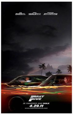 Fast and Furious Fast 5 Vin Diesel Movie Poster 11x17