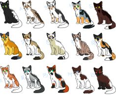 Adoptables 1 and 3 are mine. Their names are  1: Cloudback 2: Heatherfang 3: Graysky 4:Leafeyes 5: Hawkclaw 6: Mountainfang 7: Orangeyes 8: Creambelly 9: Tigerfrost 10: Gingerpool 11: Pinedapple 12: Frostmoon 13: Oakdapple 14: Brownspeckle 15: Adopter chooses name