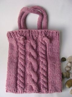 Cable knit totebag. This color is ok, but would love a mustard yellow or burnt orange one instead.