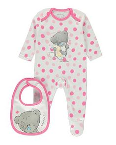 Tiny Tatty Teddy Sleepsuit and Bib Set | Baby | George at ASDA