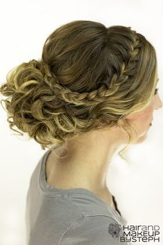How I do my hair about once a week, it's really so easy-- just need a wand and goody spin pins