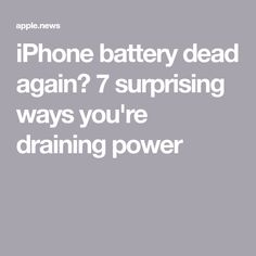 iPhone battery dead again? 7 surprising ways you're draining power — Fox News Android Phone Hacks, Cell Phone Hacks, Iphone Life Hacks, Smartphone Hacks, Iphone Information, Battery Hacks, Iphone Secrets, Computer Help, Computer Tips