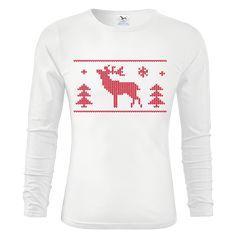 "Tip na vánoční dárek pro drahou polovičku - triko ""Triko s jelenem"". Sweatshirts, Sweaters, Fashion, Moda, Hoodies, Fashion Styles, Sweater, Trainers, Fashion Illustrations"