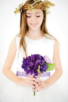 Purple Luxe Flower Girl #Wedding Bouquet