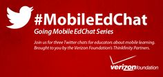 Chatting about mobile edtech on Twitter.