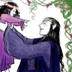 Elrond and little Arwen