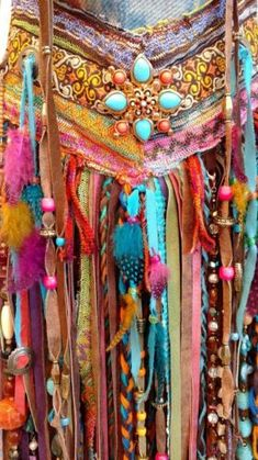 Handmade Fabric Shoulder OR Crossbody Fringe Bag Hippie Boho Gypsy Purse tmyers