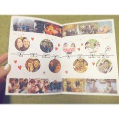 #プロフィールブック p.6-7 2人が付き合い始めてから結婚式までの年表❣️ パソコン苦手でよく分かんないから、ハートとかの素材はスマホ画像加工アプリから持って来てます #2016秋婚 #ちーむ1113#プレ花嫁 #卒花 #結婚式準備 #にぴDIY #にぴ婚#プロフィールブック手作り#ハートコート#ハートコート横浜