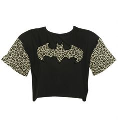 Grrr, Batgirl in the rawr! This fab, official DC Comics tee features the classic Batgirl/Batman symbol in a fab leopard print with a luxurious black flocked edge along with printed sleeves.