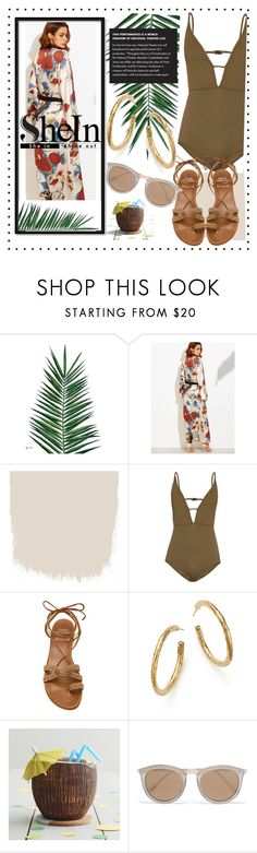 """""""POOL PARTY 🎉"""" by dchatzin ❤ liked on Polyvore featuring Nika, Zimmermann, Stuart Weitzman, Ippolita and Le Specs"""