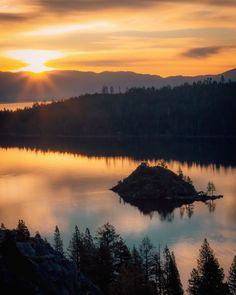 Sunrise at Emerald Bay in Lake Tahoe, California, USA × Edgewood Tahoe, Vacation List, Reno Tahoe, California Usa, Lake Tahoe, Landscape Photographers, Natural Wonders, The Ordinary, Travel Photos