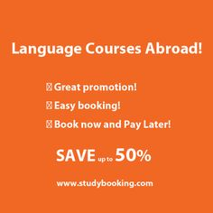 Learn a foreign language abroad with Studybooking.com. Choose your language course and destination with our Special Deal Discount up to 50%! Browse our website now http://www.studybooking.com/discount/school/review/1
