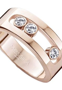 Bague Move Joaillerie S or rose et diamants Messika - Lepage