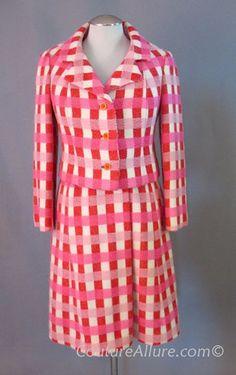 60's Jacques Tiffeau jacket + dress suit. Wonderful plaid too.