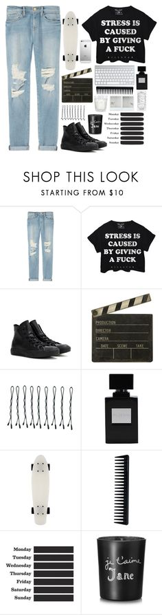 """""""Untitled #53"""" by caylagonzales ❤ liked on Polyvore featuring Frame, Killstar, Converse, Spicher and Company, AT&T, BOBBY, GHD, ferm LIVING and Bella Freud"""
