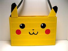 Pokemon Pikachu Duct tape Purse. $22.00, via Etsy. Awesome!