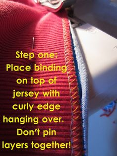 Banding instead of hemming.