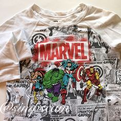 "Marvel Sweater In perfect condition and great for any Marvel lover :) 19"" wide and 24"" long in the front. 25"" in the back. Marvel Sweaters Crew & Scoop Necks"