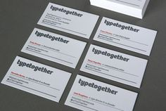 Our new letterpress business cards, printed by Canarias based office Tipos en su Tinta.