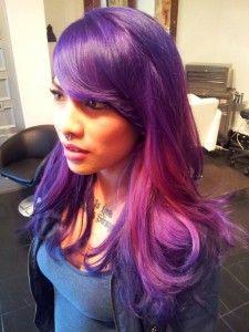 pravana violet and pink hair