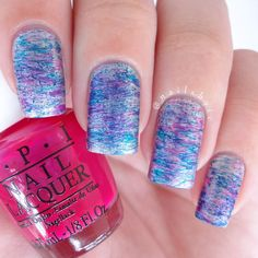 OPI 'Silver Canvas', 'Pen & Pink' and 'Turquoise Aesthetic'.