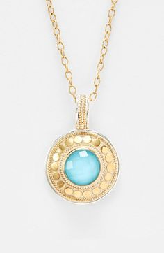 Anna Beck 'Gili' Turquoise Disc Pendant Necklace available at #Nordstrom